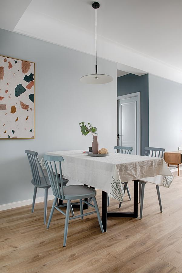 悠雅120平北欧三居餐厅实拍图厨房北欧极简餐厅设计图片赏析
