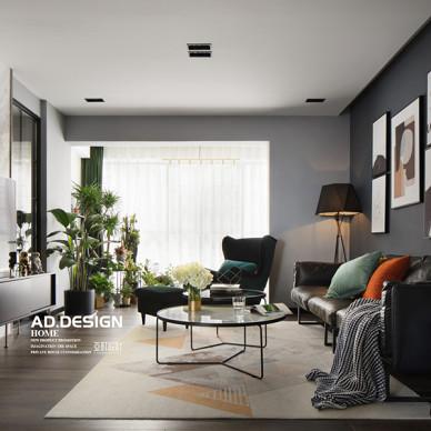 纯色现代客厅设计实景图
