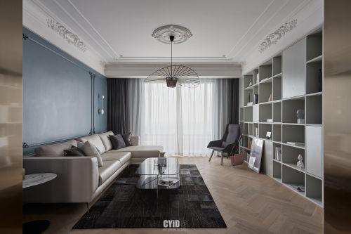明亮30平混搭小户型客厅实景图片客厅窗帘121-150m²一居潮流混搭家装装修案例效果图