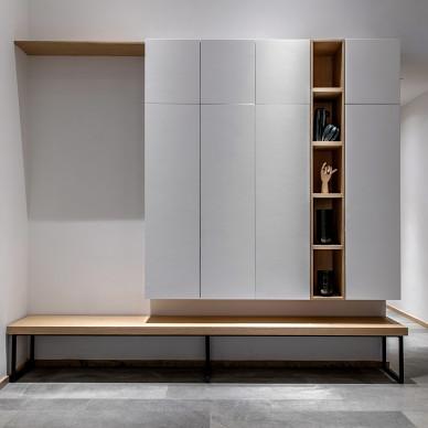北欧别墅地下室鞋柜设计