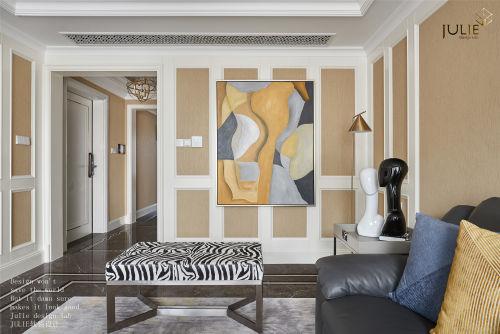 悠雅149平美式四居客厅装饰美图客厅茶几121-150m²四居及以上家装装修案例效果图