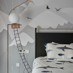 时尚个性现代儿童房落地灯设计