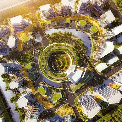 立木赢得上海智能医疗岛城市设计_3443045