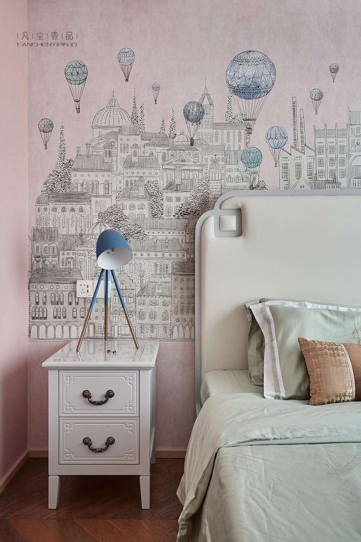 精致79平中式复式儿童房装修美图卧室中式现代卧室设计图片赏析
