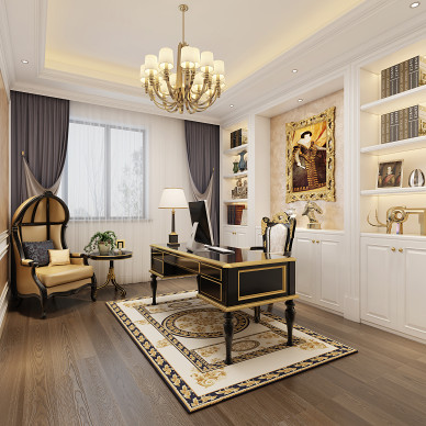 上饶别墅设计-欧式风格_3448410