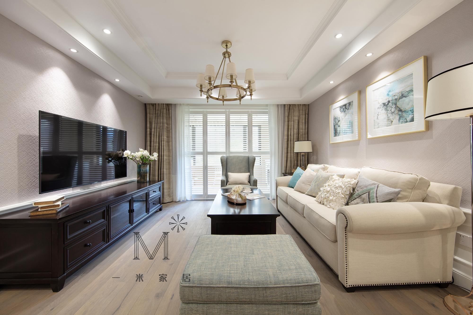 大气140平美式二居客厅装修装饰图客厅美式经典客厅设计图片赏析
