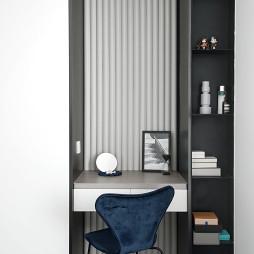 黑白现代卧室化妆台设计