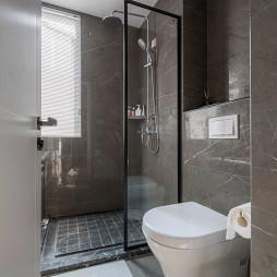 黑白现代卫浴设计实景
