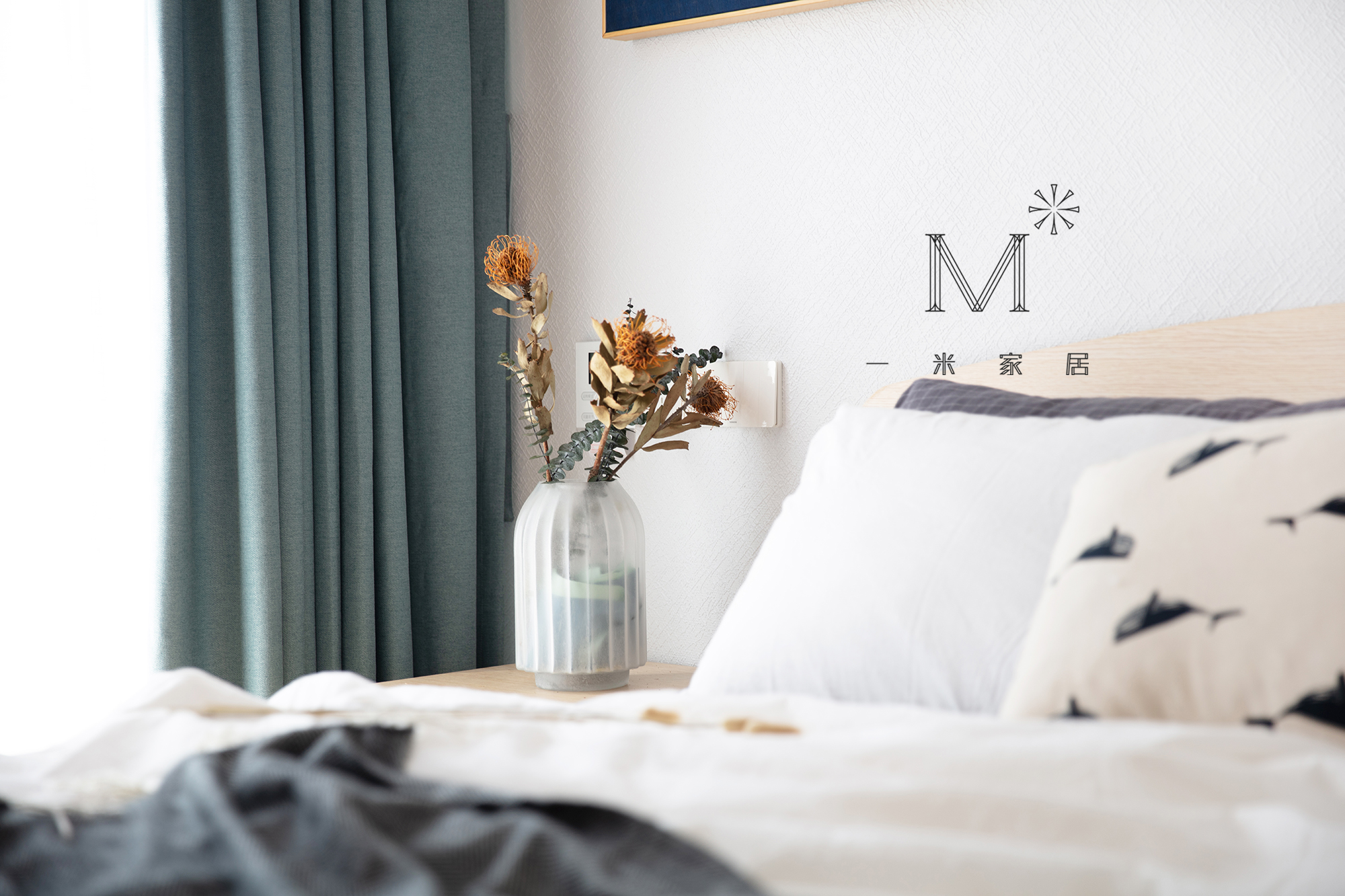 大气54平日式二居装修设计图卧室窗帘1图日式卧室设计图片赏析
