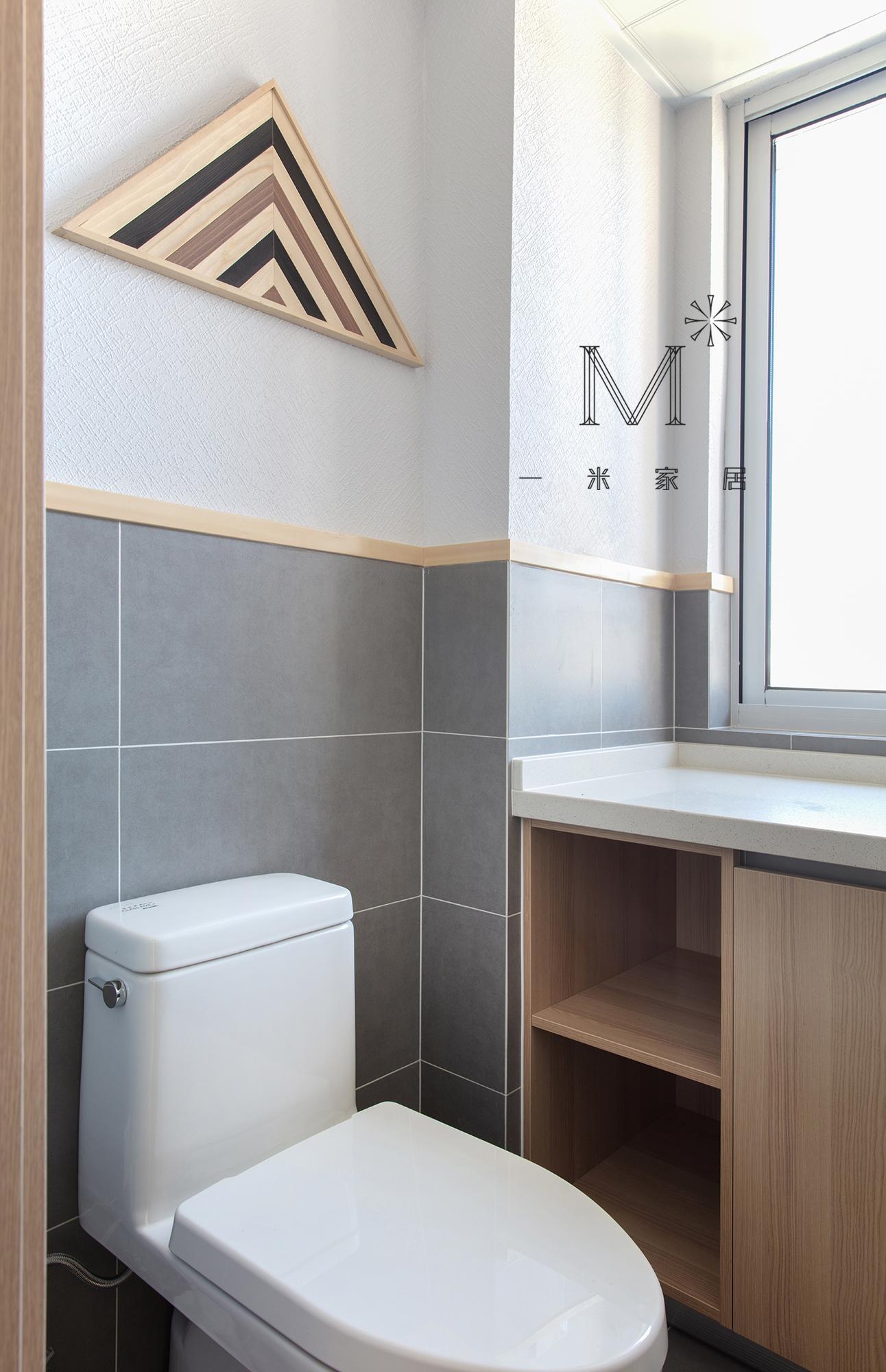 明亮60平日式二居卫生间装修美图卫生间马桶日式卫生间设计图片赏析