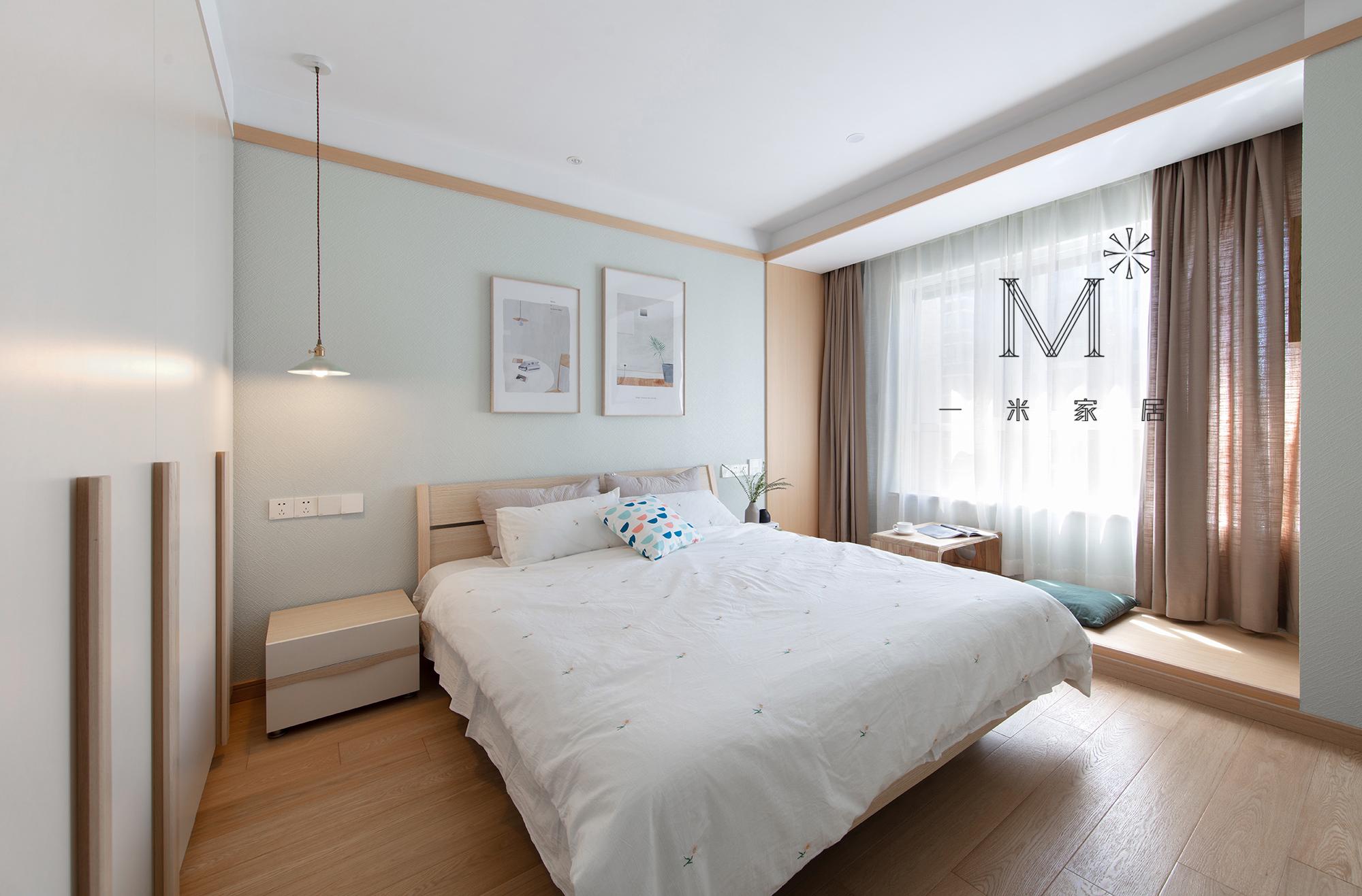 优美58平日式二居卧室装修图片卧室窗帘2图日式卧室设计图片赏析