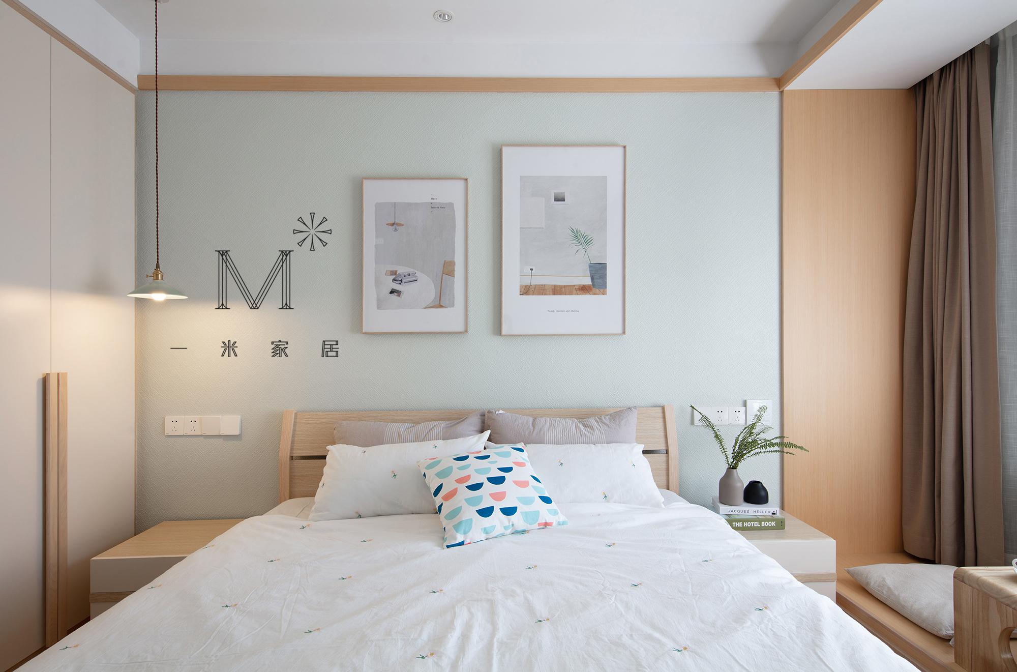精美68平日式二居卧室装修美图卧室窗帘3图日式卧室设计图片赏析