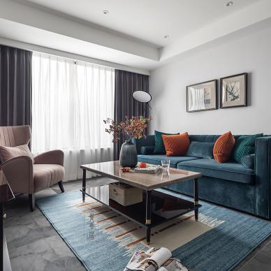 简美式客厅设计