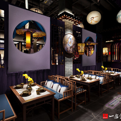 主题中餐厅设计:鱼小妖湖北襄阳店