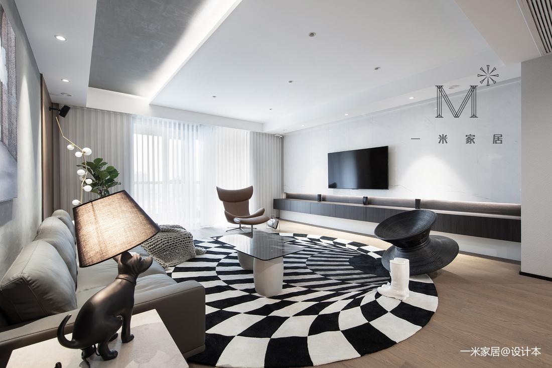 300m²当代北欧客厅背景墙设计客厅北欧极简客厅设计图片赏析
