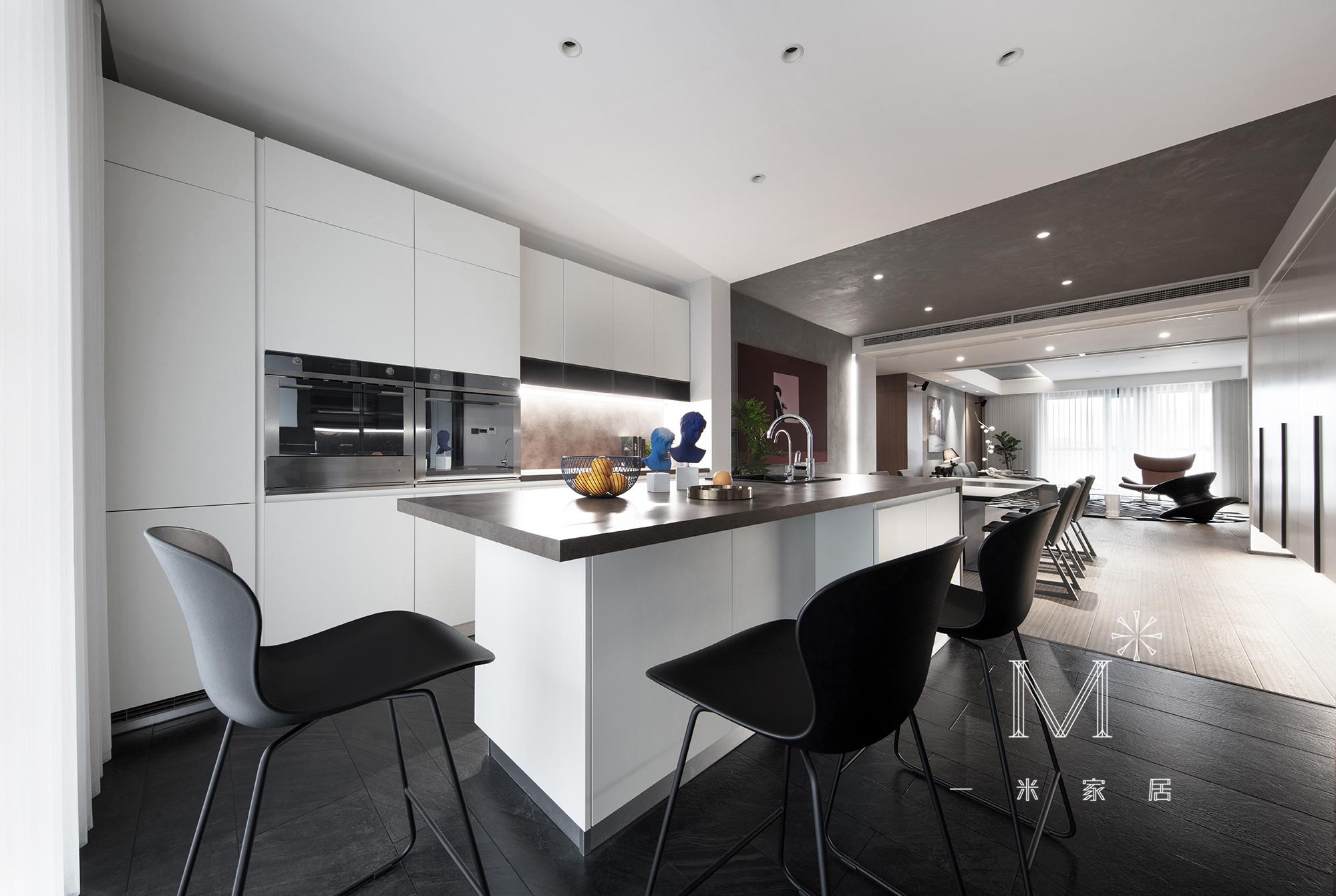 明亮102平北欧三居厨房效果图功能区北欧极简功能区设计图片赏析