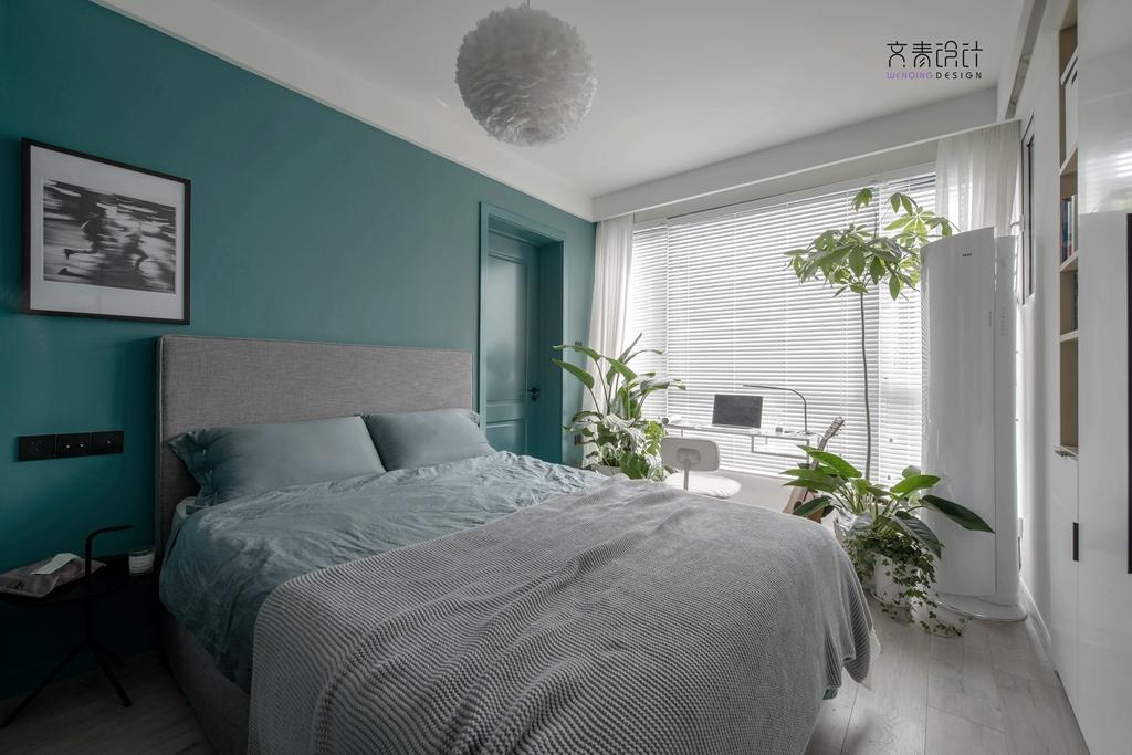 轻奢39平北欧小户型卧室效果图卧室北欧极简卧室设计图片赏析