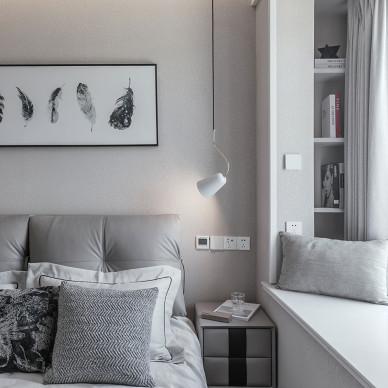 温暖现代二居卧室设计
