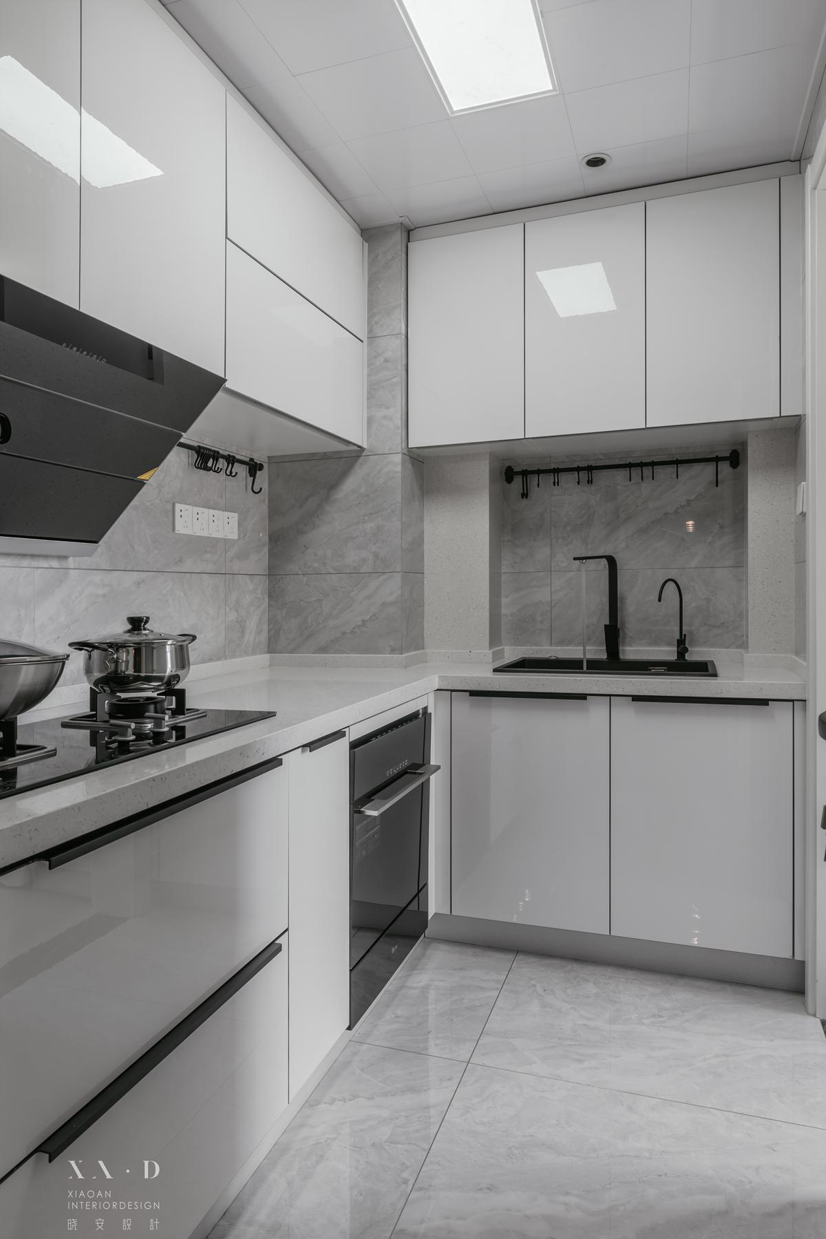 精致77平现代二居厨房装修装饰图餐厅2图现代简约厨房设计图片赏析