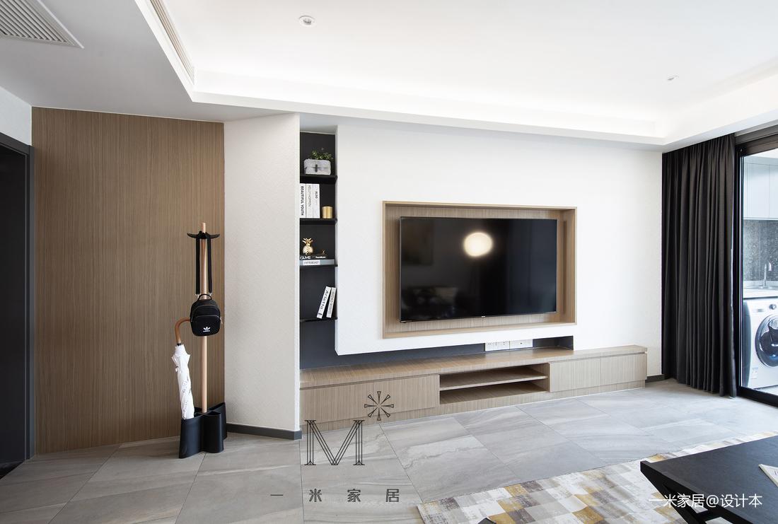 130m²现代背景墙设计客厅现代简约客厅设计图片赏析