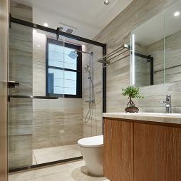 新中式素雅卫生间设计实景图