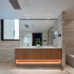 新中式素雅卫生间设计