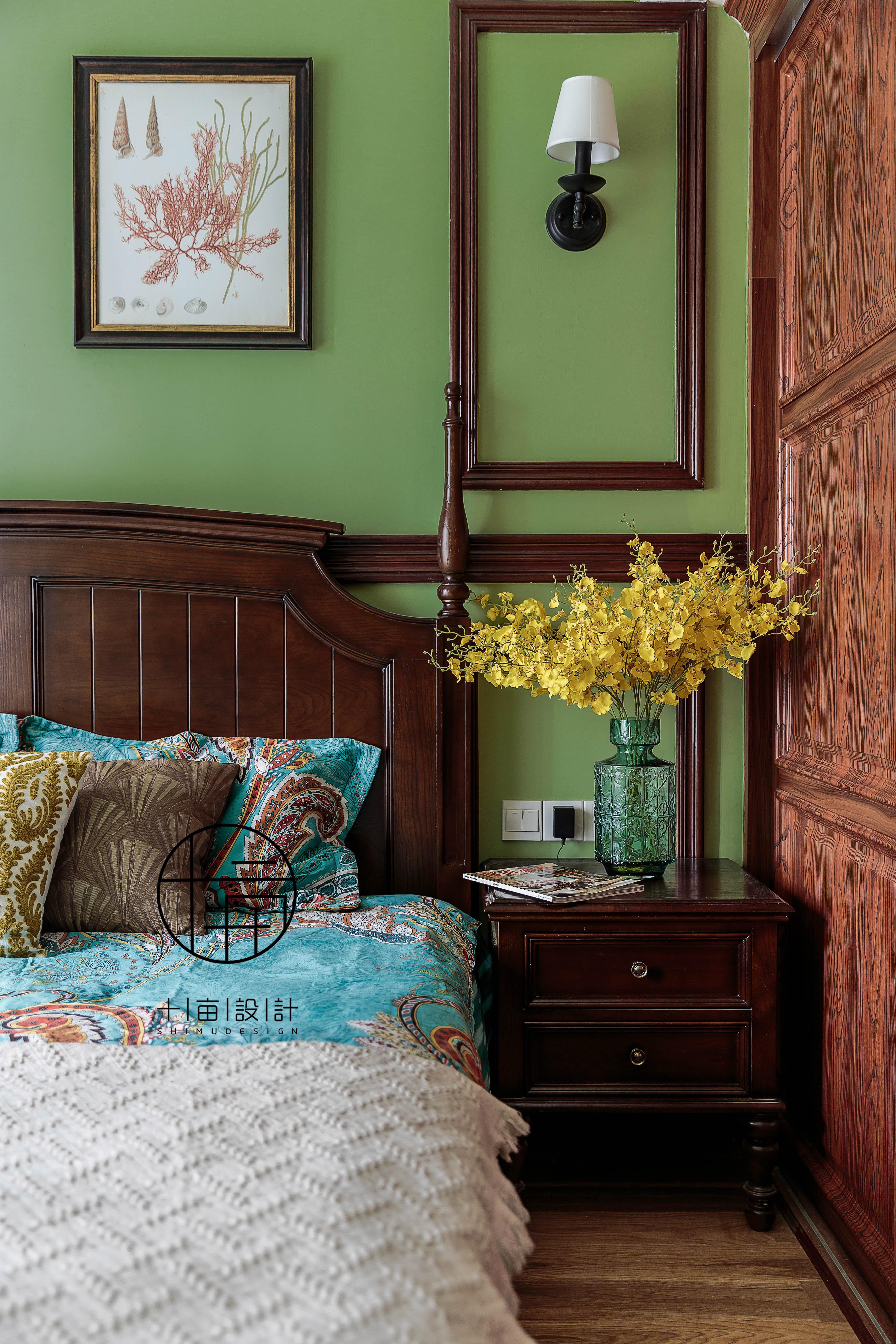 悠雅110平美式三居卧室设计图卧室美式经典卧室设计图片赏析
