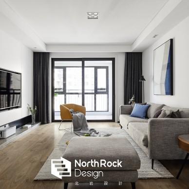 撞色现代客厅设计