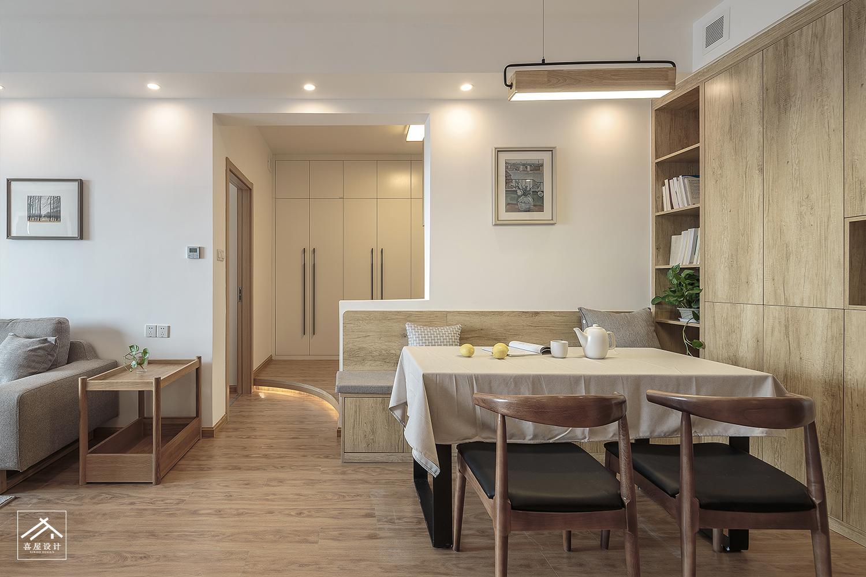 质朴50平日式二居餐厅装修图片厨房木地板日式餐厅设计图片赏析