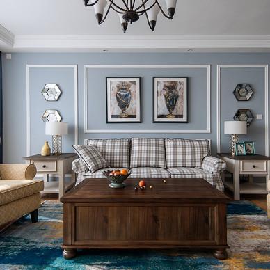 简单美式客厅设计实景
