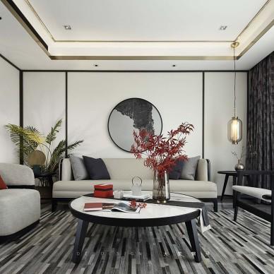 楓·度中式客廳設計圖片
