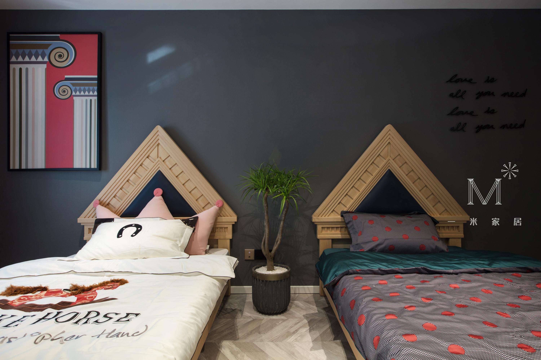 质朴220平现代三居儿童房效果图欣赏卧室现代简约卧室设计图片赏析