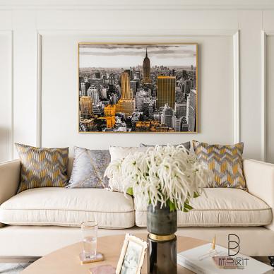 108㎡摩登客厅背景画图片