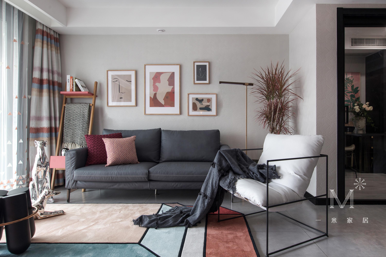 精美21平现代小户型客厅装修效果图客厅
