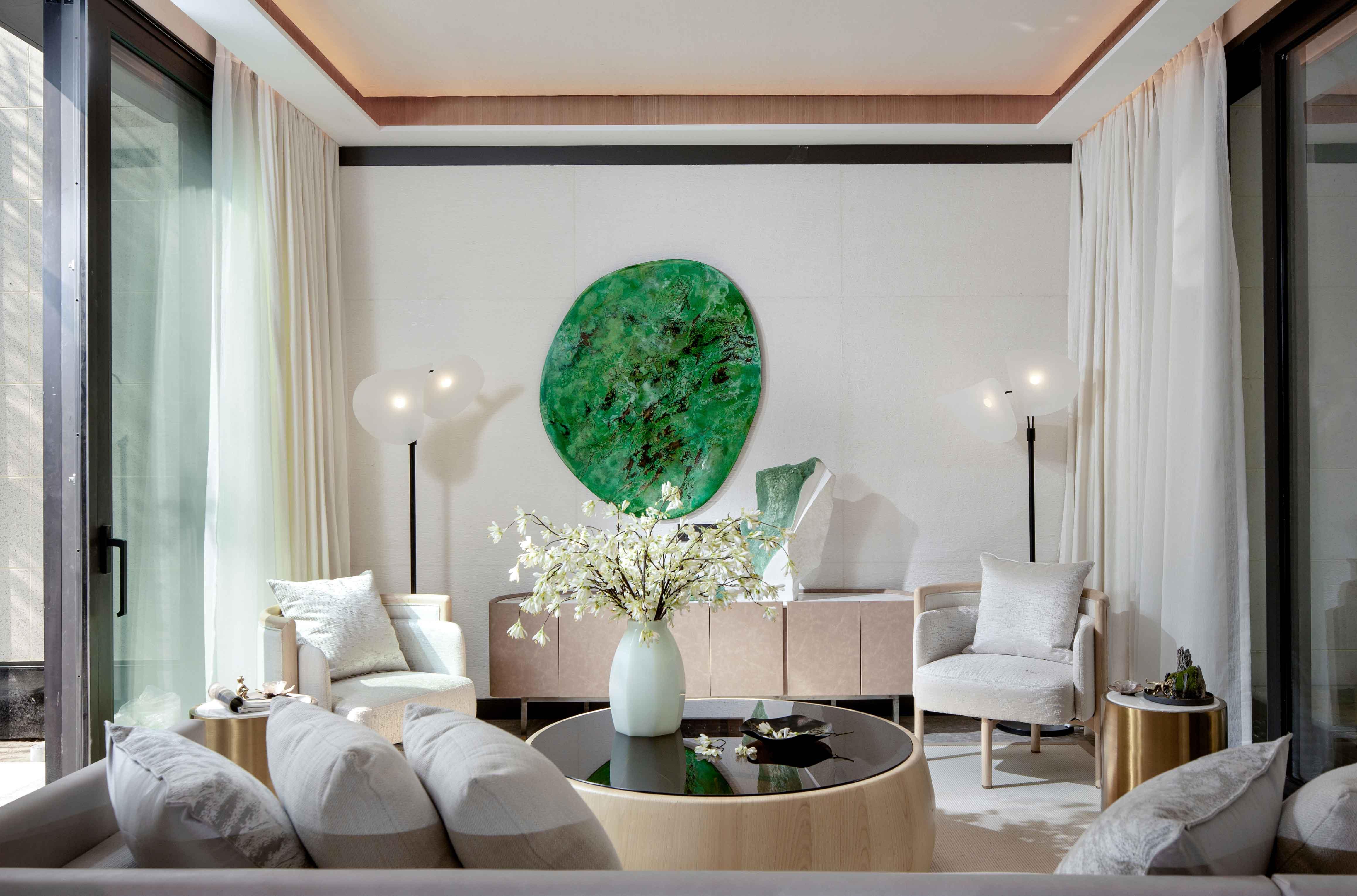 质朴360平现代别墅客厅装修案例客厅现代简约客厅设计图片赏析