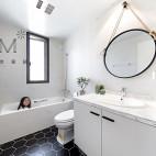 135㎡现代简约卫浴设计图