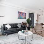 135㎡现代简约客厅沙发图片