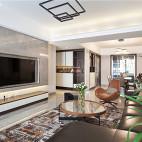 140平现代简约客厅吊灯设计