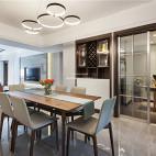 140平现代简约餐厅设计实景图