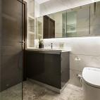 140平现代简约卫浴设计实景图