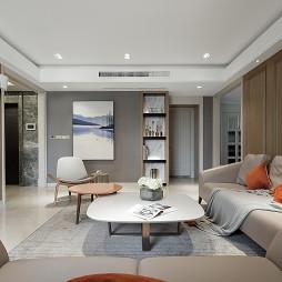 《叶园长雅居》现代客厅设计图