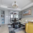 《陈院长雅居》美式客厅吊灯设计