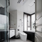 《陈院长雅居》美式卫浴设计图片