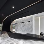 上海腾邦差旅办公空间前台设计实景