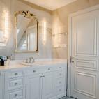 600平复式住宅卫浴洗手台设计
