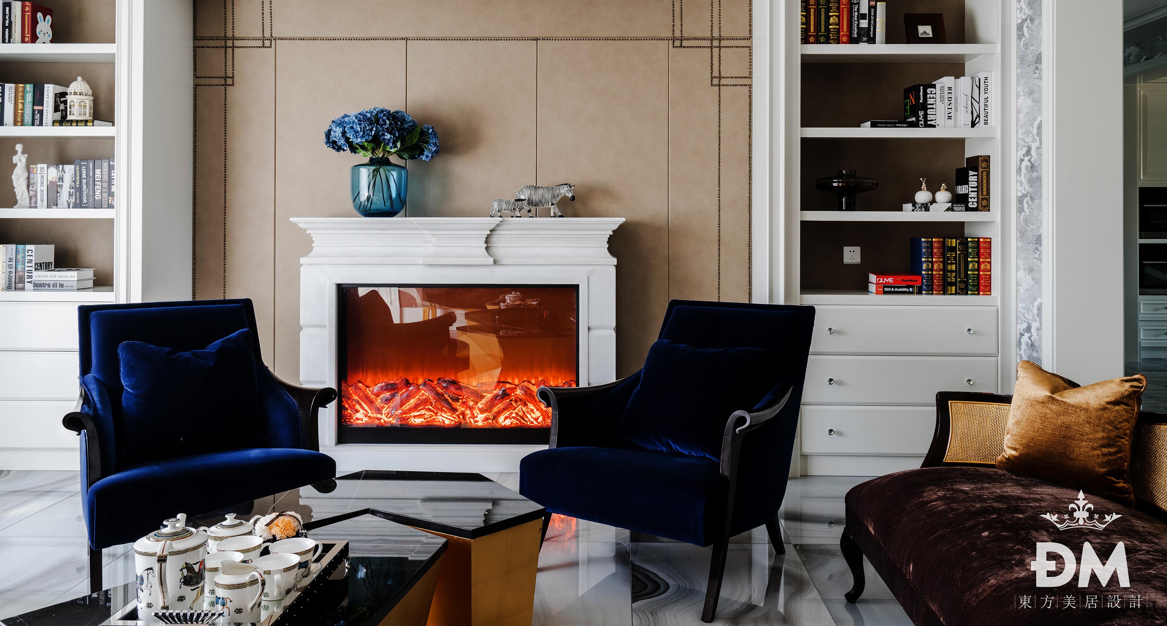600平复式住宅铂珏公馆新古典的水晶之家客厅美式经典客厅设计图片赏析