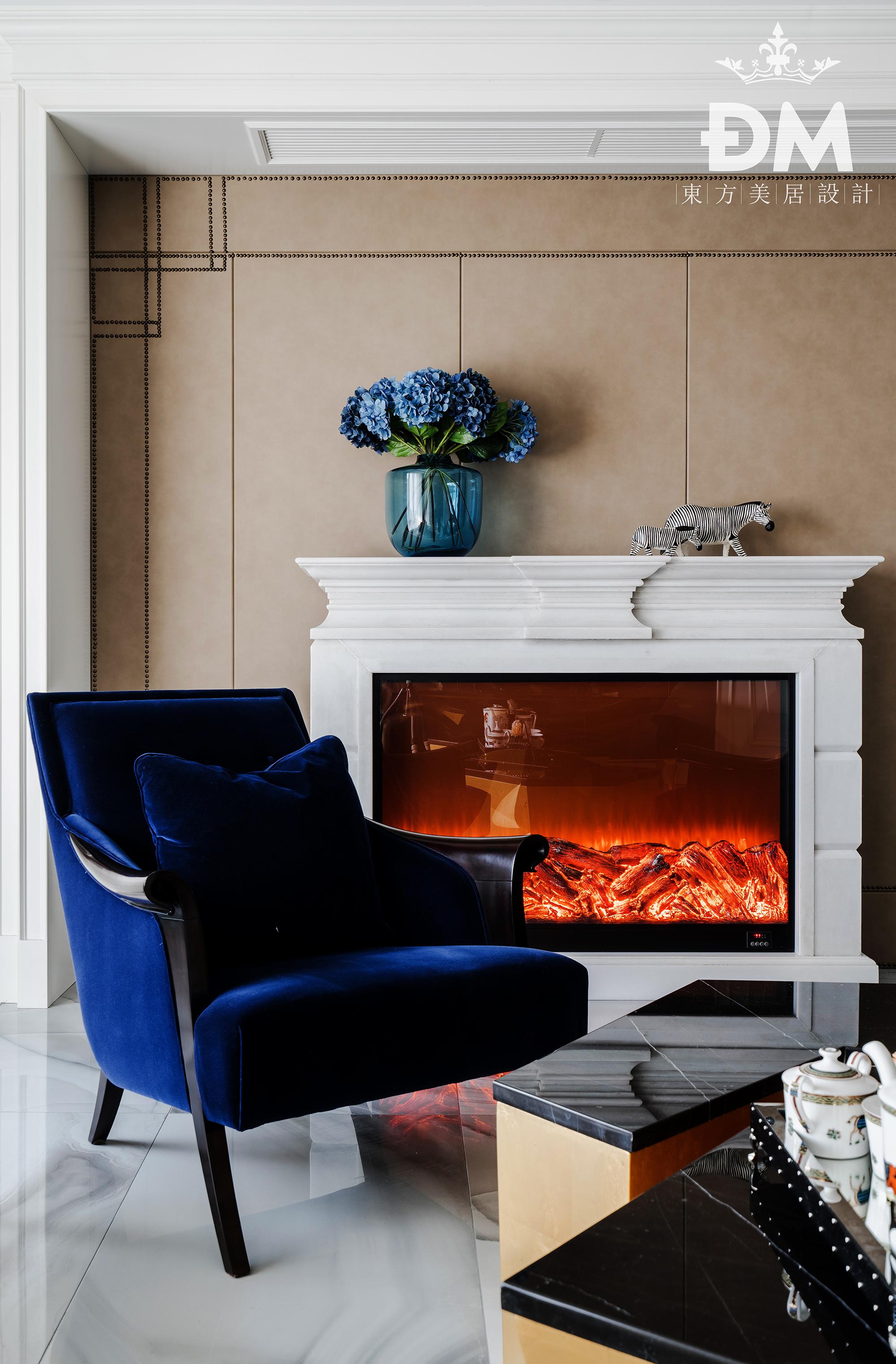 600平复式住宅铂珏公馆新古典的水晶之家客厅2图美式经典客厅设计图片赏析