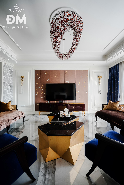600平复式住宅客厅吊灯设计客厅1图美式经典客厅设计图片赏析