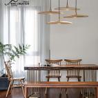 静谧混搭餐厅吊灯设计实景图