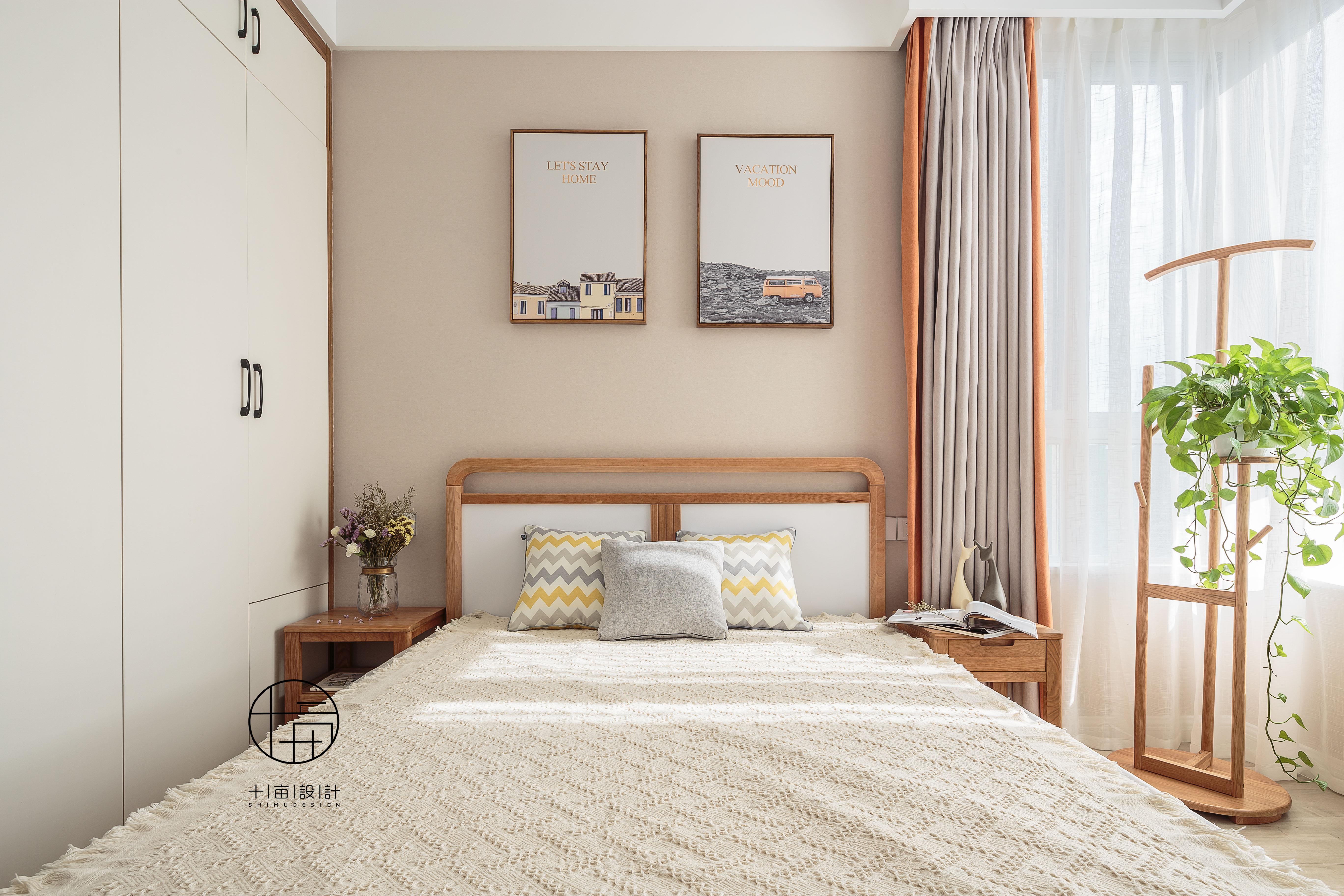精致106平北欧三居卧室美图卧室北欧极简卧室设计图片赏析